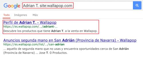 buscar usuario Wallapop nombre