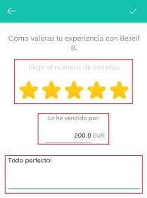 wallapop valoracion a comprador