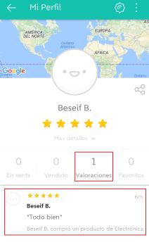 wallapop ver valoraciones