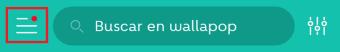 iconos wallapop menu principal